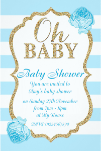 Details About 10 Stunning Boy Or Baby Shower Invitations Brand New 2018 Design