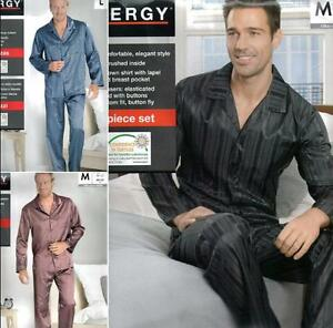 Popular-Satin-Silk-Men-039-s-Pajama-Set-Sleepwear-Nightgown-M-L-XL-3-types