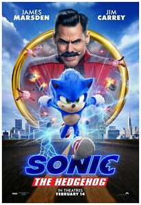 "Sonic The Hedgehog Movie Poster 24x36"" - (2020) - Jim Carrey ..."