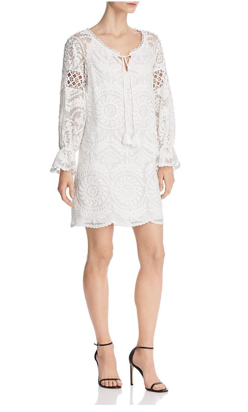 600 Kobi Halperin Lace Silk Tunic Dress White XS S M L Absolutely GORGEOUS