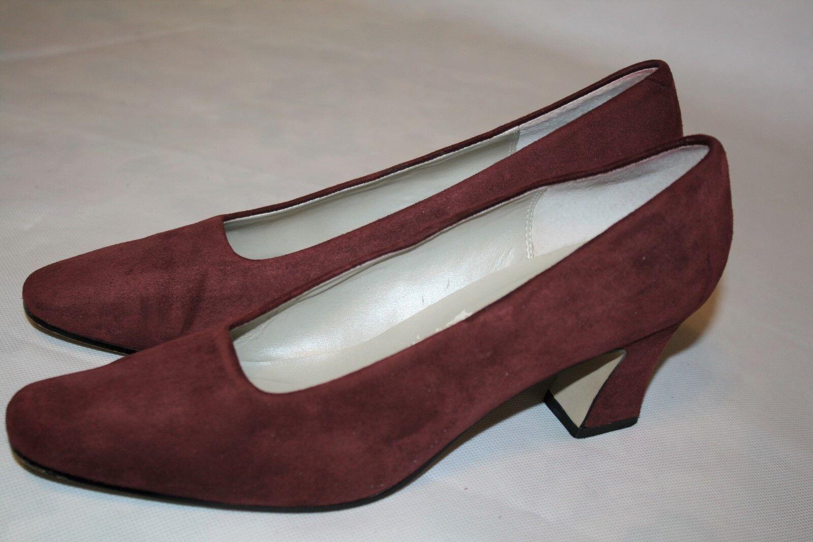 Liz Claiborne Shoes 8M Women's Reddish Brown Suede Leather Shoes Claiborne 2.5