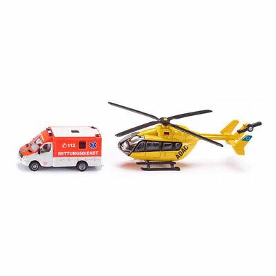 NEU OVP SIKU Super 1//87 1850 Rettungsdienst-Set Hubschrauber /& Rettungswagen