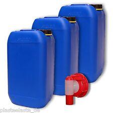 3x 15 L Wasserkanister mit AFT-Hahn DIN61 Trinkwasser Behälter (3x22246+1x22010)