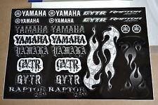 YAMAHA UNIVERSAL GRAPHICS STICKERS THREE 12X18 SHEETS RAPTOR BANSHEE YFZ450 YZ