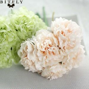 Artificial-Bouquet-Peony-5-Heads-Flower-Fake-Leaf-Home-Wedding-Party-Decoration