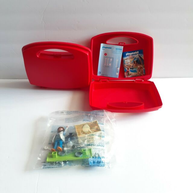 PLAYMOBIL Vet Visit Carry Case Playset W/ Extra Red Carrying Case