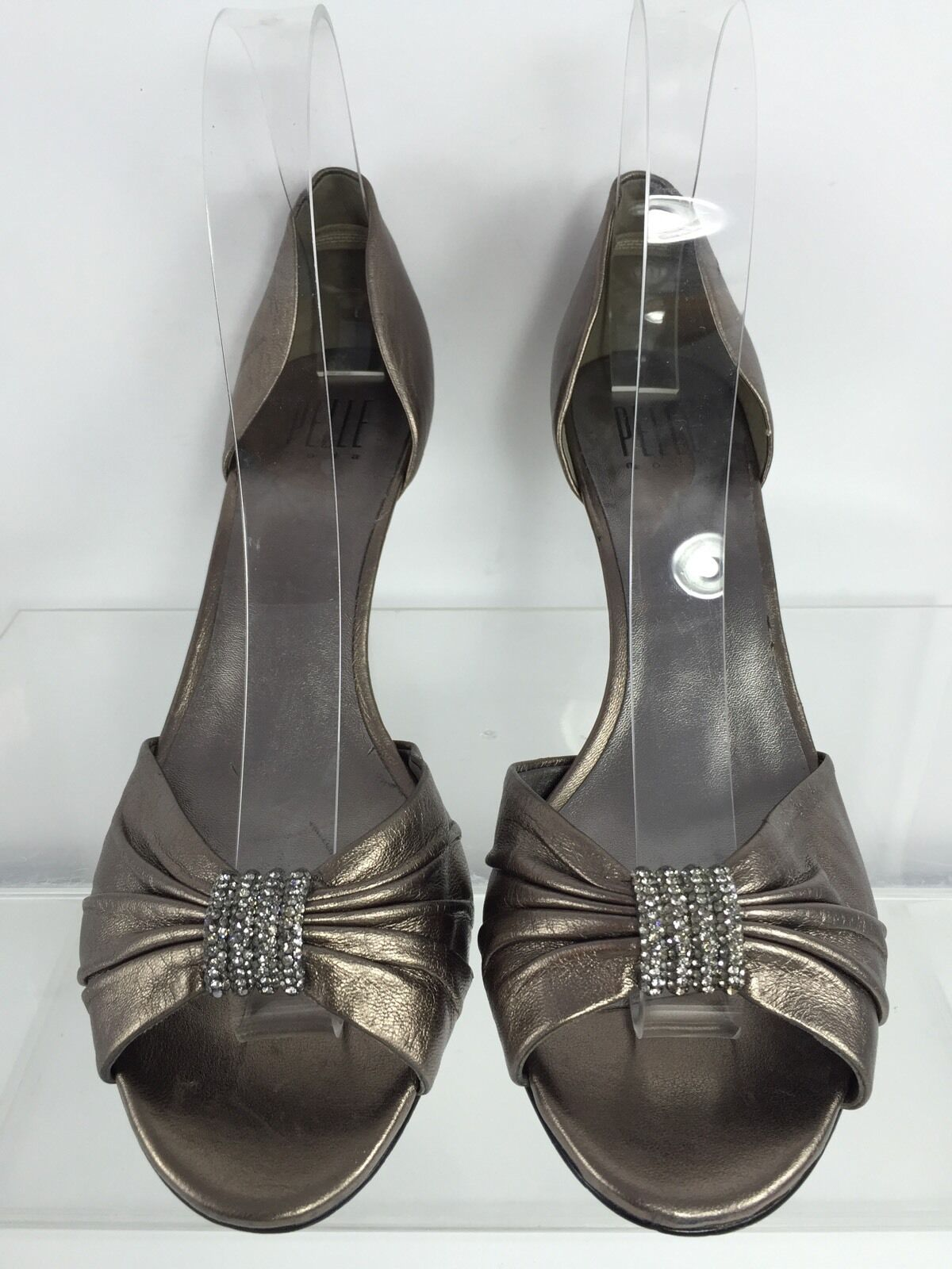 Pelle Moda Womens Metallic Bronze Leather Leather Leather Heels 8 M 8ed49a