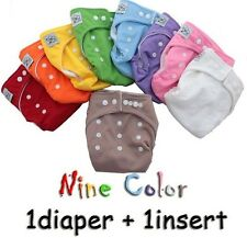 WHOLESALE 0-2 Y BABY RE-USABLE CLOTH DIAPER NAPPY+ CLOTH INSERT SIZE ADJUSTABLE