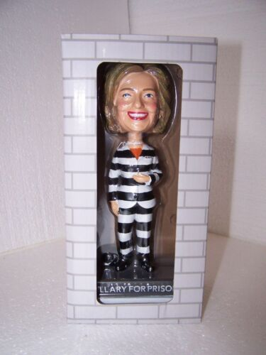 Hillary FOR PRISON BobbleHead doll OFFICIAL 2016 CAMPAIGN New in Box