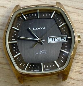 Edox-ESA-9181-Quartz-37-mm-NO-Funciona-For-Parts-Watch-Swiss
