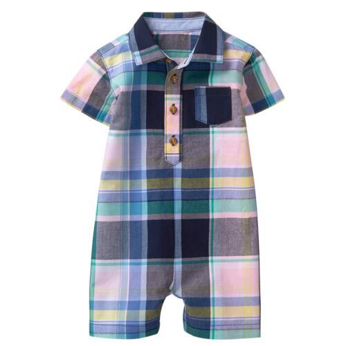 NWT Gymboree Dressed up Plaid Romper Baby Boy 3-6-12-18-24M