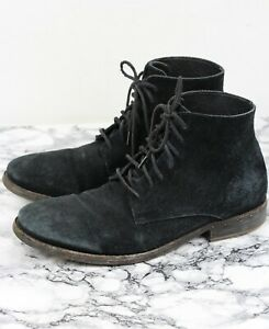 ALL SAINTS MENS Black Suede Leather