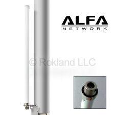 Alfa 9 dBi AOA-2409N outdoor Wi-Fi omni-directional antenna + mount bracket kit