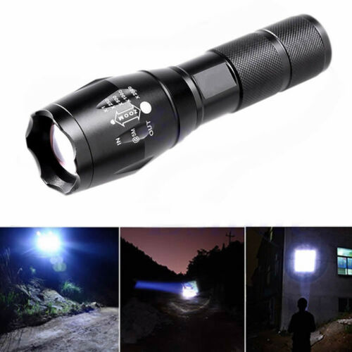 8000LM Tactical T6 LED G700 Flashlight 5Modi Zoom Superhell Militär Taschenlampe