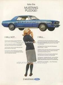 1966 FORD MUSTANG A3 POSTER AD ADVERT ADVERTISEMENT SALES BROCHURE MINT