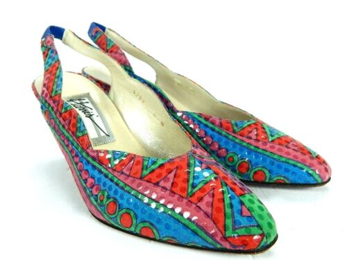 donna Made in multicolore High Spagna alti Tacchi 8 vintage tribali Harris da vintage wqapATAUx