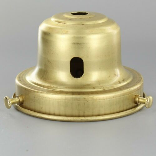 """BELL ~ Lamp Shade Holder w// Key Slot ~#C3-12 UNFINISHED BRASS ~ 3 1//4/"""" Fitter"""