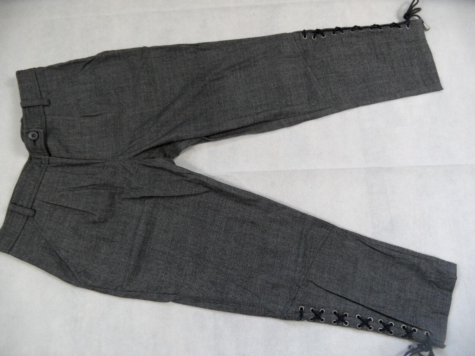 PATRIZIA PEPE stylische Hose mit Schnürung grey Gr. it 44 dt. 38 TOP KoS718