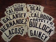 Houston Astros 1970-1980s Game Used ORIGINAL Rainbow Jersey Nameplates Astrodome