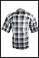 Mens Clearance 100% Cotton Blue, Green Checkered Button Up Casual Shirt