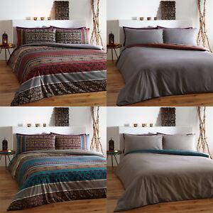 Fusion Indian Oriental Ethnic Print Duvet Quilt Cover Set Bedding