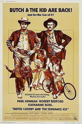 Vintage Butch Cassidy and the Sundance Kid Poster////Classic Movie Poster////Movie P