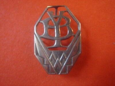 Rational Monogramm Anfang Y.b Art-deco Aus Silber Vintage 1920/30 / Silber, Monogramm Jahre Lang StöRungsfreien Service GewäHrleisten