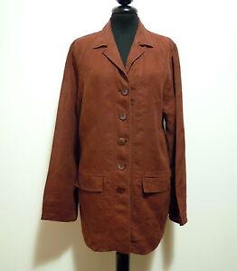detailed look c3fc9 dc4bb Dettagli su LUISA SPAGNOLI Giacca Donna Cotone Lino Flax Woman Jacket Sz.L