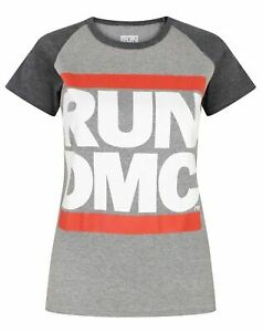 Run-DMC-Logo-Women-039-s-Raglan-T-Shirt