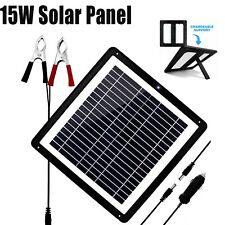 15watt 15w 12v Solar Panel Kit Trickle Charge Battery Charger Maintainer Rv Boat