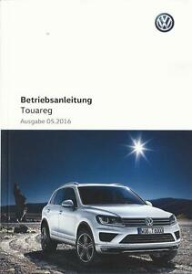 vw touareg 2 betriebsanleitung 2016 bedienungsanleitung handbuch bordbuch ba ebay. Black Bedroom Furniture Sets. Home Design Ideas