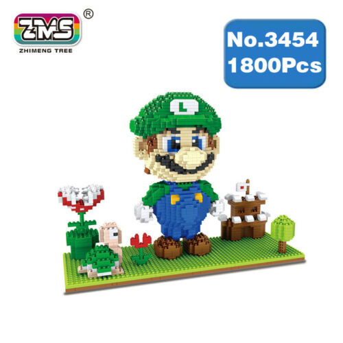 Kinder Spielzeug Spiel Anime Mario Luigi Burg Goomba Diamond Building Baukästen