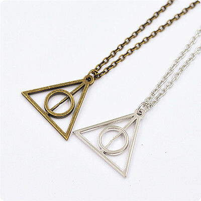 Harry Potter The Deathly Hallows charm talisman PENDANT Necklace chain Gift