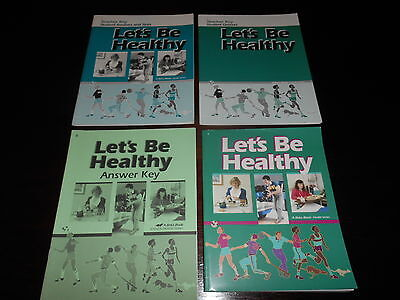 Abeka Homeschooling Let's Be Healthy Set 8th grade curriculum lot of 4