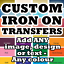 CUSTOM-IRON-ON-T-SHIRT-TRANSFER-PERSONALISED-TEXT-QUALITY-PRINTS-ANY-NAME thumbnail 1