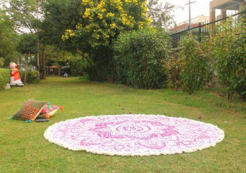 Colorful Yoga Mats Round Blankets Beach Towel Mandala Tapestry Home Decor RUD-38