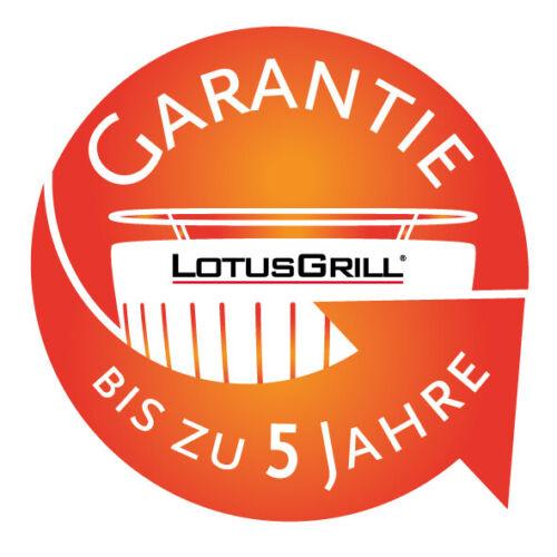 LotusGrill XL Kohle USB Anschluss Grillzange inkl Paste anthrazit Pinsel