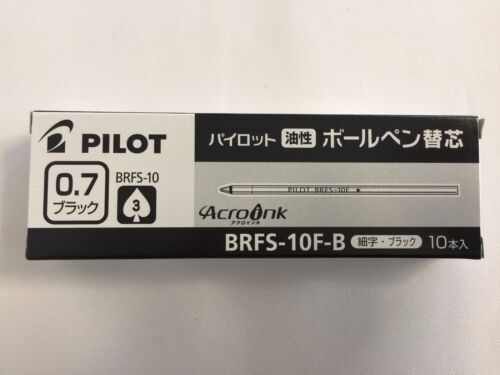 Pilot Oil-Based Ball point refill Replacement 0.7 Black 10 pieces BRFS-10F-B New
