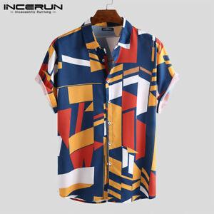 Summer-Mens-Hawaiian-Floral-Shirt-Print-Holiday-Beach-Party-Casual-Shirt-Top-Tee