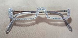 NEW-STYLE-SASSY-READING-GLASSES-CRYSTAL-AB-1-75-READERS