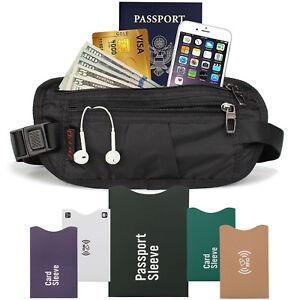 RFID-Travel-Money-Belt-Wallet-Hidden-Under-Clothes-Waist-Pouch-Secure-Holder