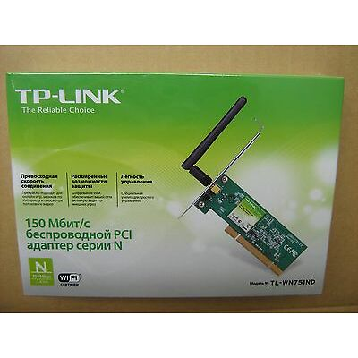 TP-Link TL-WN751ND WiFi PCI Adapter 150Mbps Wireless N150 2dBi Antenna New