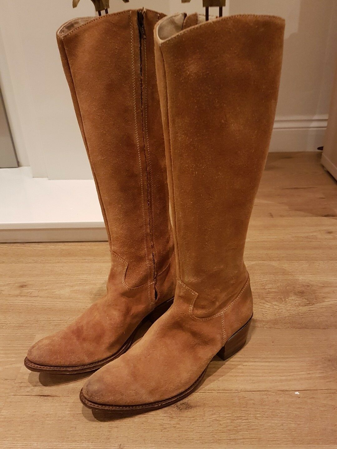 Ladies Tall suede leather boots