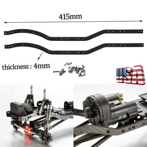 1 Pair Carbon Fiber Chassis Frame Rails for Axial SCX10II 1//10 RC Crawler Car US