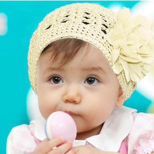 Infant Toddler Baby Girl Hair Band Headband Headwear Photo Prop Beanie Hat Caps
