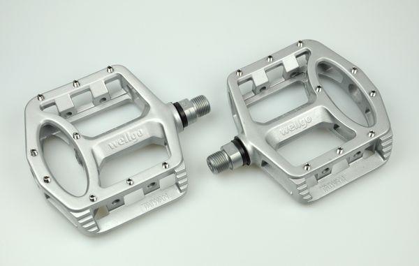 Black New Wellgo Platform MG-1 Magnesium Bike Pedal Fixed Gear MTB /& BMX