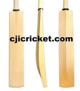 Custom Senior Plain English Willow Cricket Bat Weight 2lb 7oz Knocking In Option