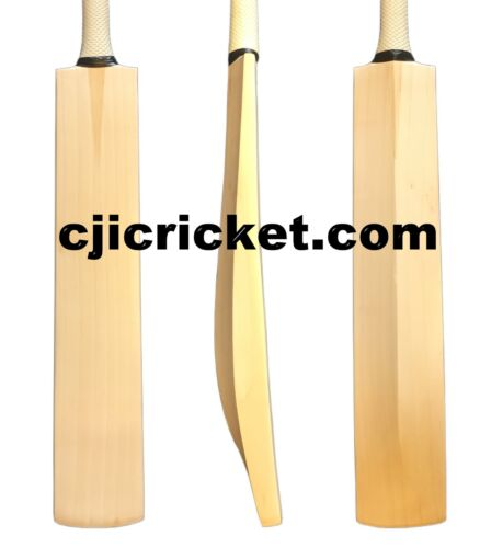 Plain Senior Hand Made English Willow Cricket Bat 2lb 8oz Knocking In Option