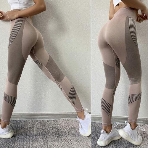 Women Fitness Running Yoga Pants Energy High Waist Seamless Leggings Gym Workout