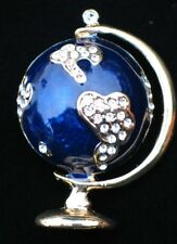 LATITUDE SOCIAL STUDIES MAP GEOGRAPHY PLANET EARTH WORLD GLOBE PIN BROOCH 2""